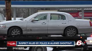 Suspect killed  in police shootout after carjacking, chase - Video