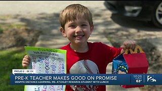 Even With School Closed, Locust Grove Pre-K Teacher Fulfills Promise To Student