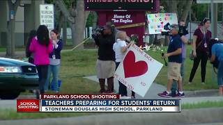 Stoneman Douglas High School staff back at school, prepare for students' return - Video