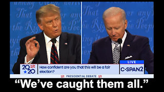 "Trump lays into Biden -- ""We've caught them all."""