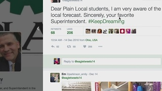 Plain local students react to Superintendent tweet about snow day - Video