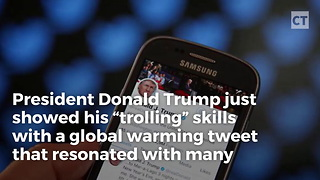 Trump Tweet Hits Global Warming Nuts Hard