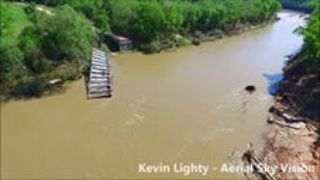 Flooding Damaged a Bridge near Tecumseh, Missouri - Video