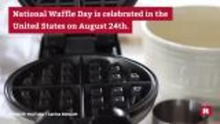 How the U.S. celebrates waffles | Rare News - Video