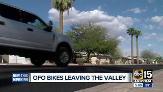 Bike-sharing company pulling bikes from Valley - Video