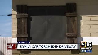 Security cameras capture Valley family's car set on fire - Video