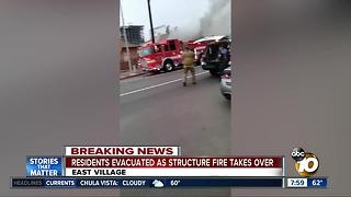 East Village structure fire - Video