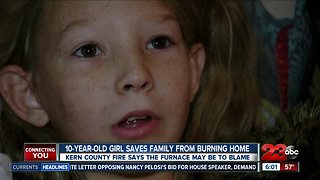 10-year-old girl saves family from burning home