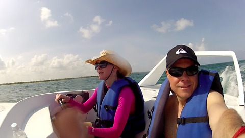 Speed Boating in Costa Maya, Mexico