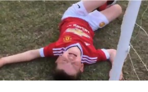 Kid Fails to Save Dad's Trick Penalty Kick, Has Hilarious Meltdown - Video