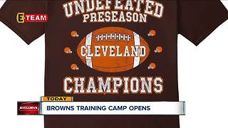 Browns training camp starts today