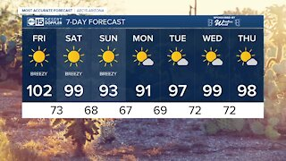 FORECAST: More triple-digit heat as air quality alerts continue