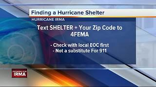 Hurricane Irma: Text this number to find a hurricane shelter near you - Video