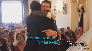 Brothers sing emotional song to couple at wedding - Video