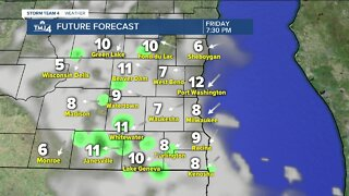 Light showers possible Thursday afternoon