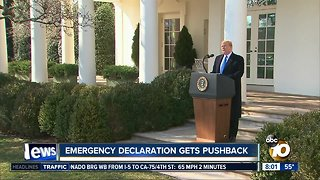 Emergency declaration gets pushback
