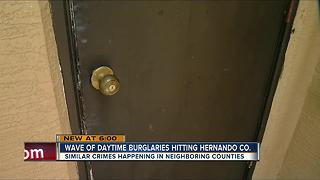 Wave of daytime burglars striking Hernando County - Video