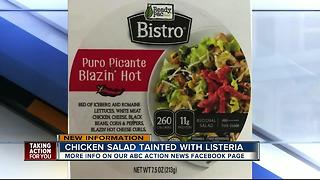 Ready Pac Foods Inc. recalls chicken salad products due to possible Listeria contamination - Video