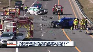 Police say drinking and driving caused a deadly Washtenaw County crash - Video
