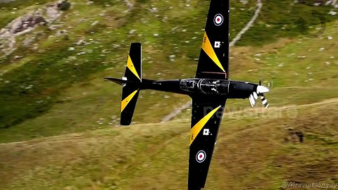 'Look, no hands!' Pilot seems to fly RAF plane while not holding on