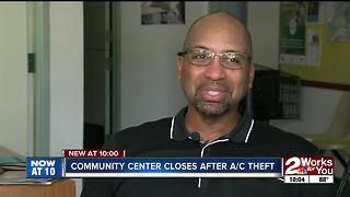 Community center closes after A/C theft - Video