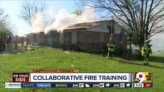 Local fire departments participating in burn training exercises Wednesday - Video