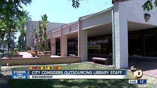 City considers outsourcing library staff - Video