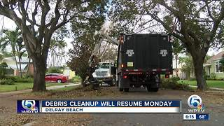 Hurricane Irma debris pickup continues in Delray Beach - Video