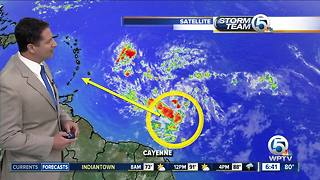 Tropical wave develops