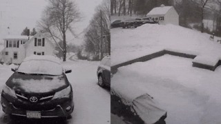 Timelapse Captures Blizzard Dumping Snow on Massachusetts Town - Video