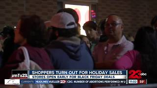 Shoppers turn out early for Black Friday deals - Video