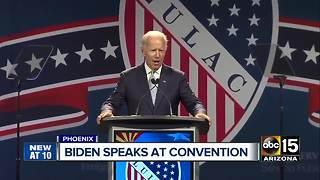 Former Vice President Joe Biden speaks at Phoenix convention - Video