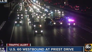 Heavy delays on US 60 WB Wednesday morning near Priest - Video