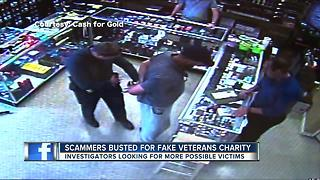 Scammers busted for fake veterans charity - Video