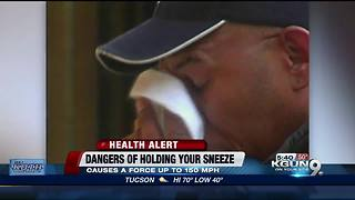 Doctors say you shouldn't hold your sneezes - Video