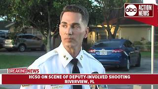 Woman's estranged husband shot in deputy-involved shooting | 7AM Press Conference - Video