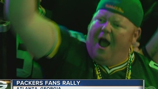 Packers fans rally in Atlanta - Video