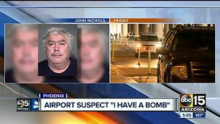 Suspect responsible for shutting down Sky Harbor said he had a bomb - Video