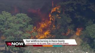 Lightning to blame for two brush fires in Pasco - Video