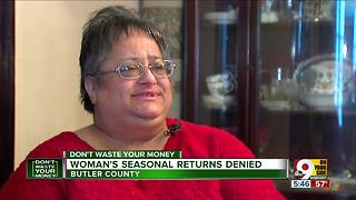 Walmart says no when woman tries to return seasonal items - Video