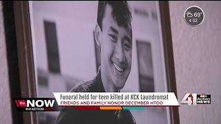 Friends and family honor teen killed in KCK Laundromat - Video