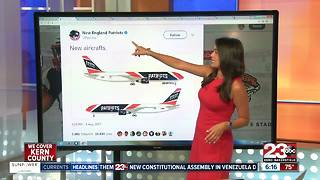 New England Patriots Airplane