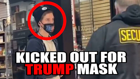 KICKED OUT of Mall for Trump Mask!