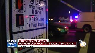 90-year-old hit, killed by cars in Chula Vista - Video