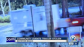 New trailer stolen from Palm Beach County Substance Awareness Coalition