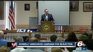 Sen. Joe Donnelly announces campaign for re-elction - Video