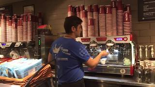 Barista refuses to sell food intended for homeless man - Video
