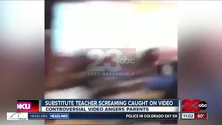 Substitute teacher screaming caught on video - Video
