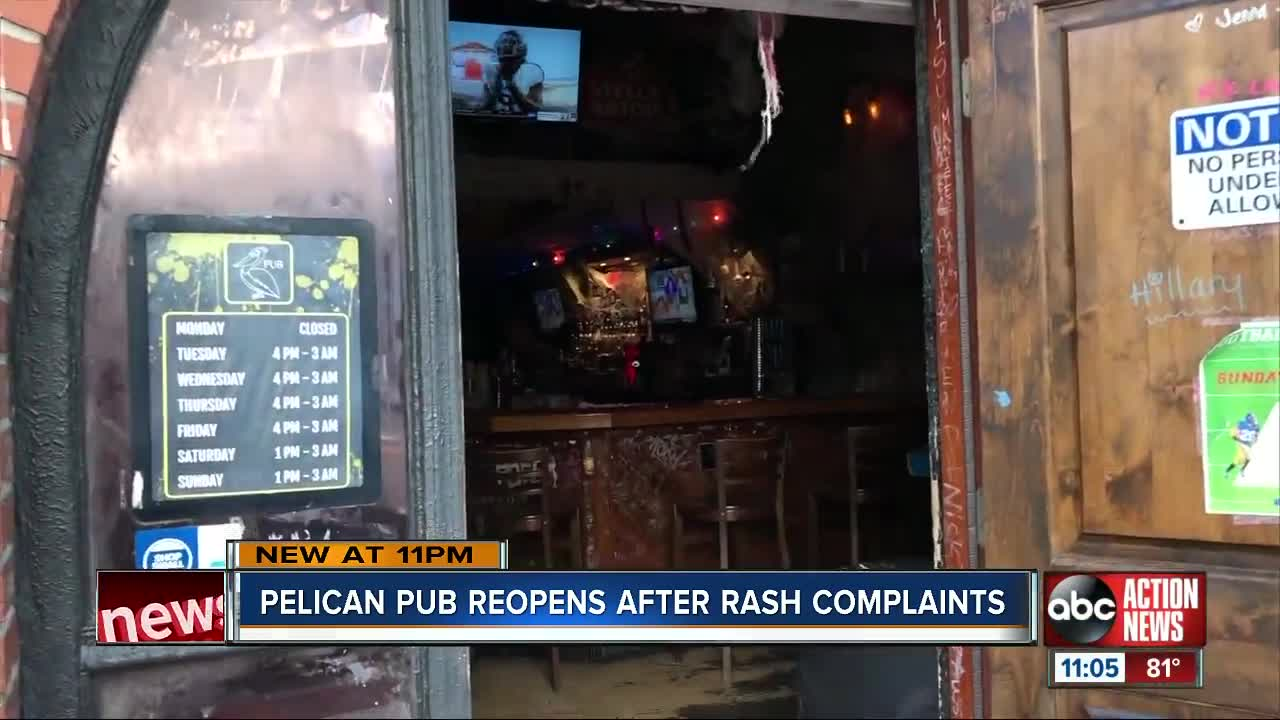 Pelican Pub reopens after briefly closing due to rash complaints