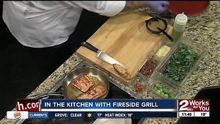 In The Kitchen with Fireside Grill: Brussels Sprouts Salad and Grilled Salmon - Video